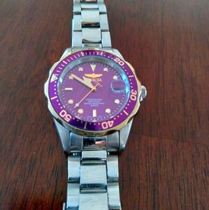 INVICTA Men's watch, Silver/Purple